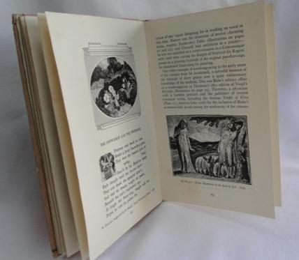 english book illustration inside red