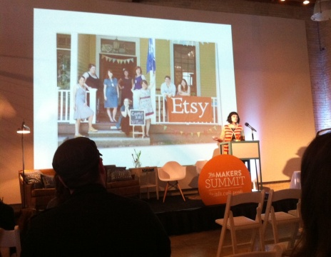 "Kimm Alfonso from Etsy speaks about ""Doing Business Intentionally."""