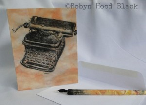 typewriter card RHB