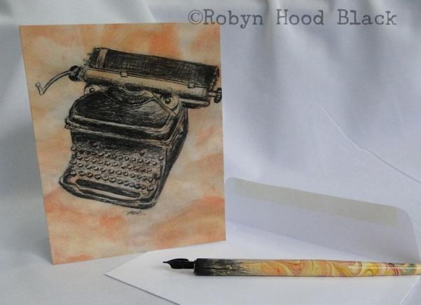 typewriter card RHB