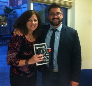 Robyn with Austin Kleon 4 2012