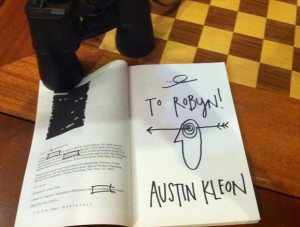 dedication page Austin Kleon 2012 RHB