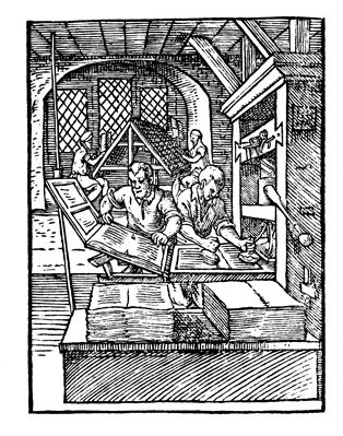 operating the printing press