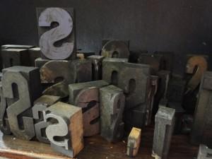 S wooden letterpress blocks