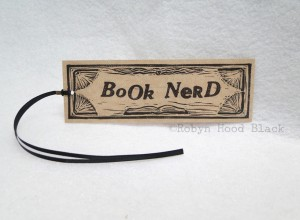 book nerd bookmark with c
