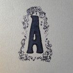dressed up letterpress A