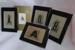 matted letterpress letter art