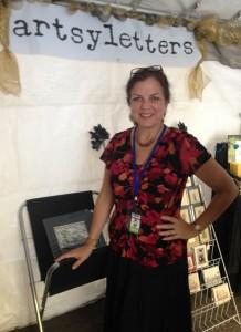 Robyn artsyletters booth DBF 2013 crop