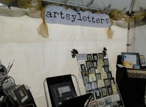artsyletters booth interior DBF 2013