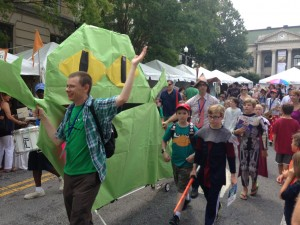 The Kids' Parades are always a highlight at the Decatur Book Festival!