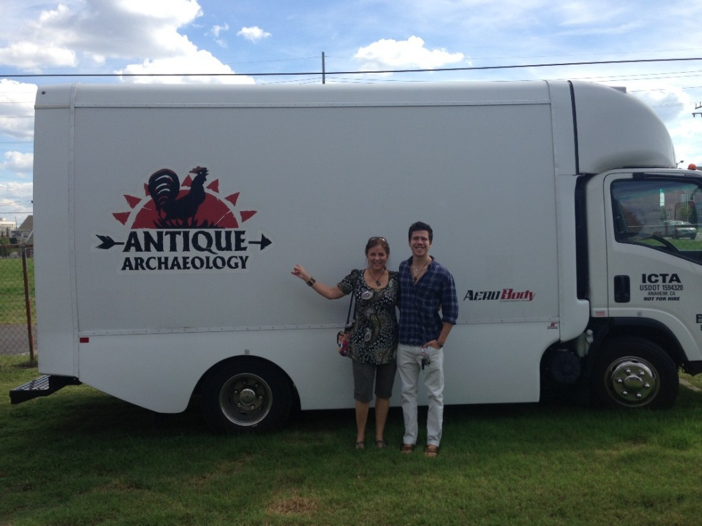Robyn and Seth - Antique Archeology truck