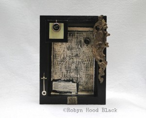 gothic shakespeare shadow box collage with c