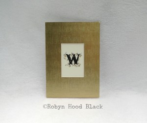 small W matted letter gold 2013 with w