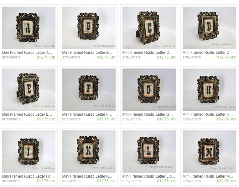 screen shot crop mini framed rustic letters