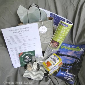 goodie bag contents wedding welcome c